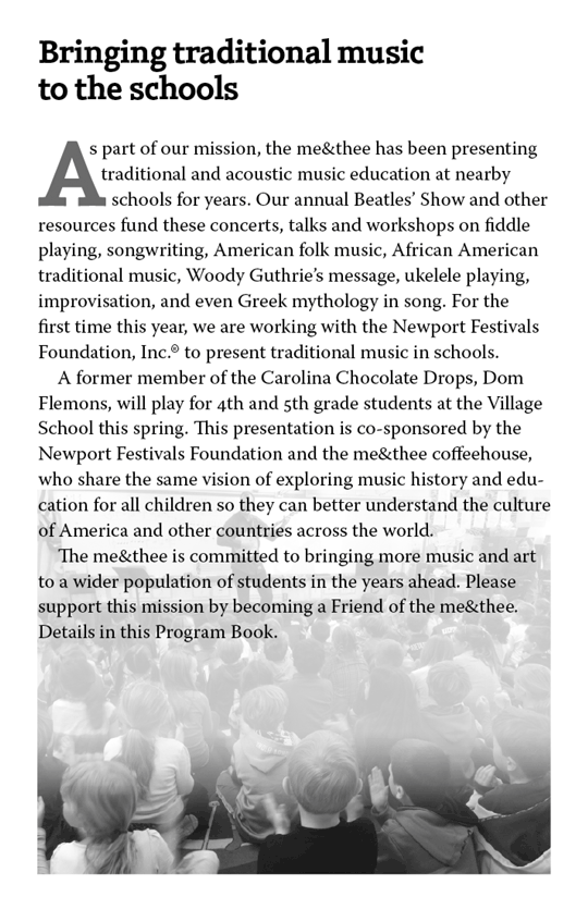 Bringing traditional music to the schools
